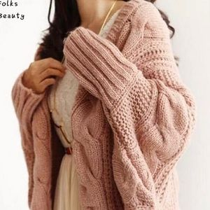 Super Soft and Snuggly Pink Shrug Sweater